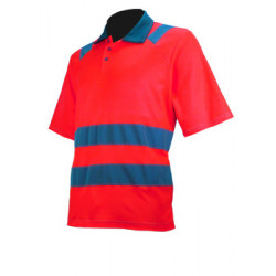 POLO C/P HV ISO20471 ROUGE